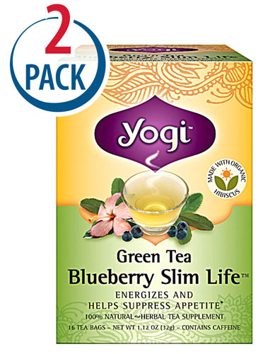 Yogi Herbal Tea Green Slim Life Blueberry 16Tea Bags 1+1요기 그린다이어트차 총 32티백